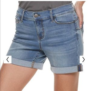 Juicy Couture Stretch Cuffed Jean Shorts Flaunt It